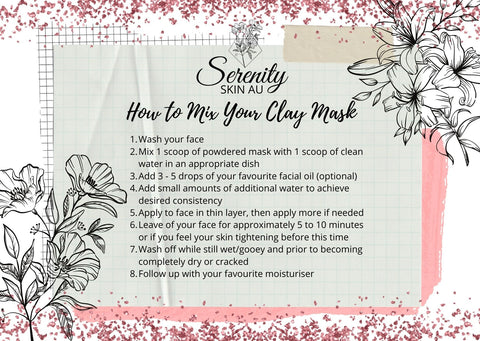 How to mix your clay face mask