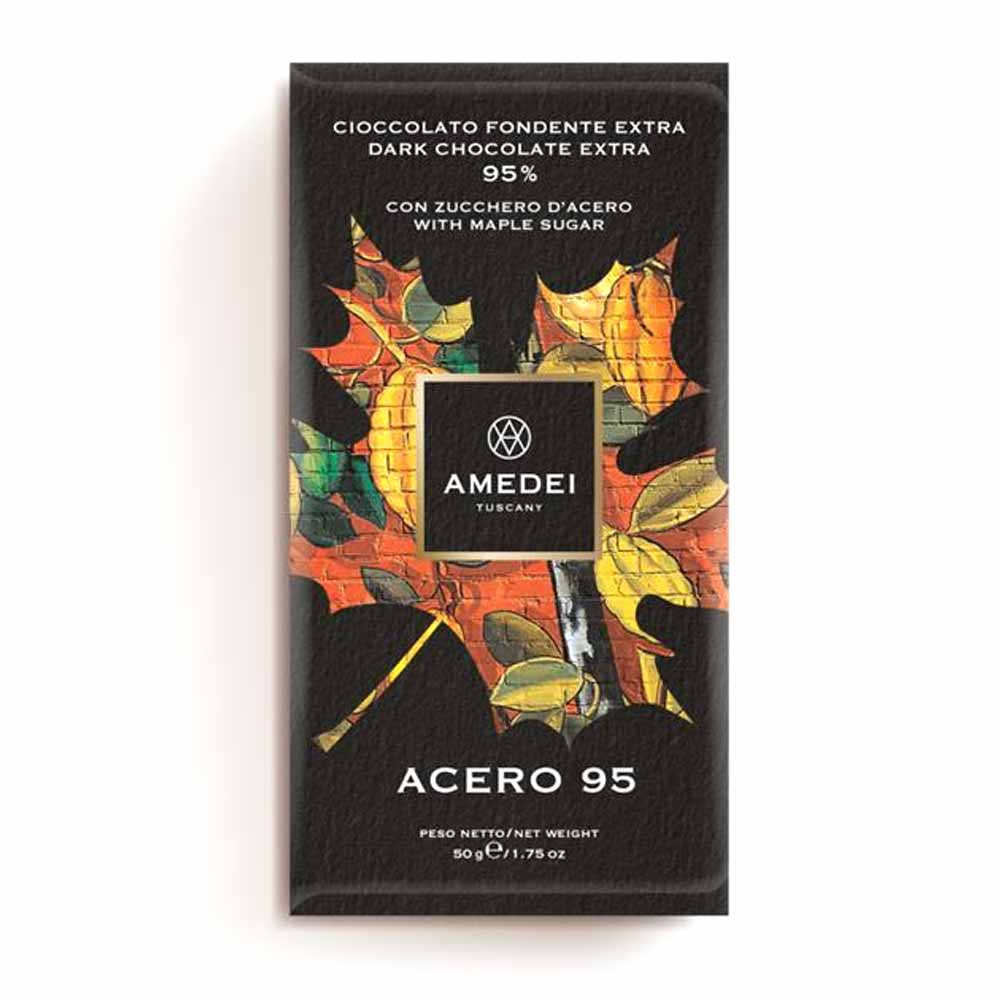 Amedei Gourmet Chocolate Bar - Acero 95% - 50g - Gourmet Boutique