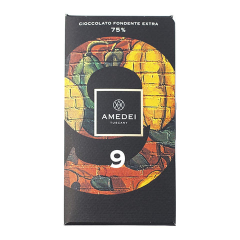 Amedei Gourmet Chocolate Bar - 9 Bar 75% Cocoa - 50g
