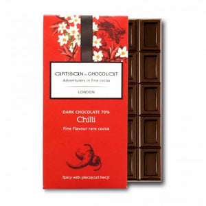 ARTISAN DU CHOCOLAT CHILLI CHOCOLATE BAR 70%