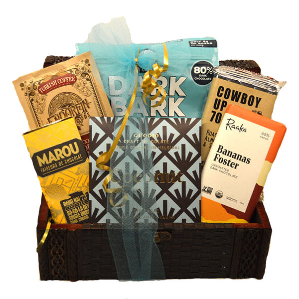 A Vegan Chocolate Adventure Gift Trunk - Gourmet Boutique
