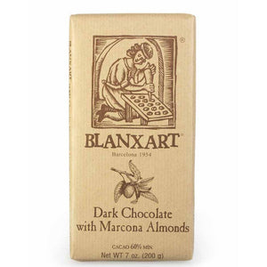 BLANXART DARK CHOCOLATE WITH ALMONDS (200g)