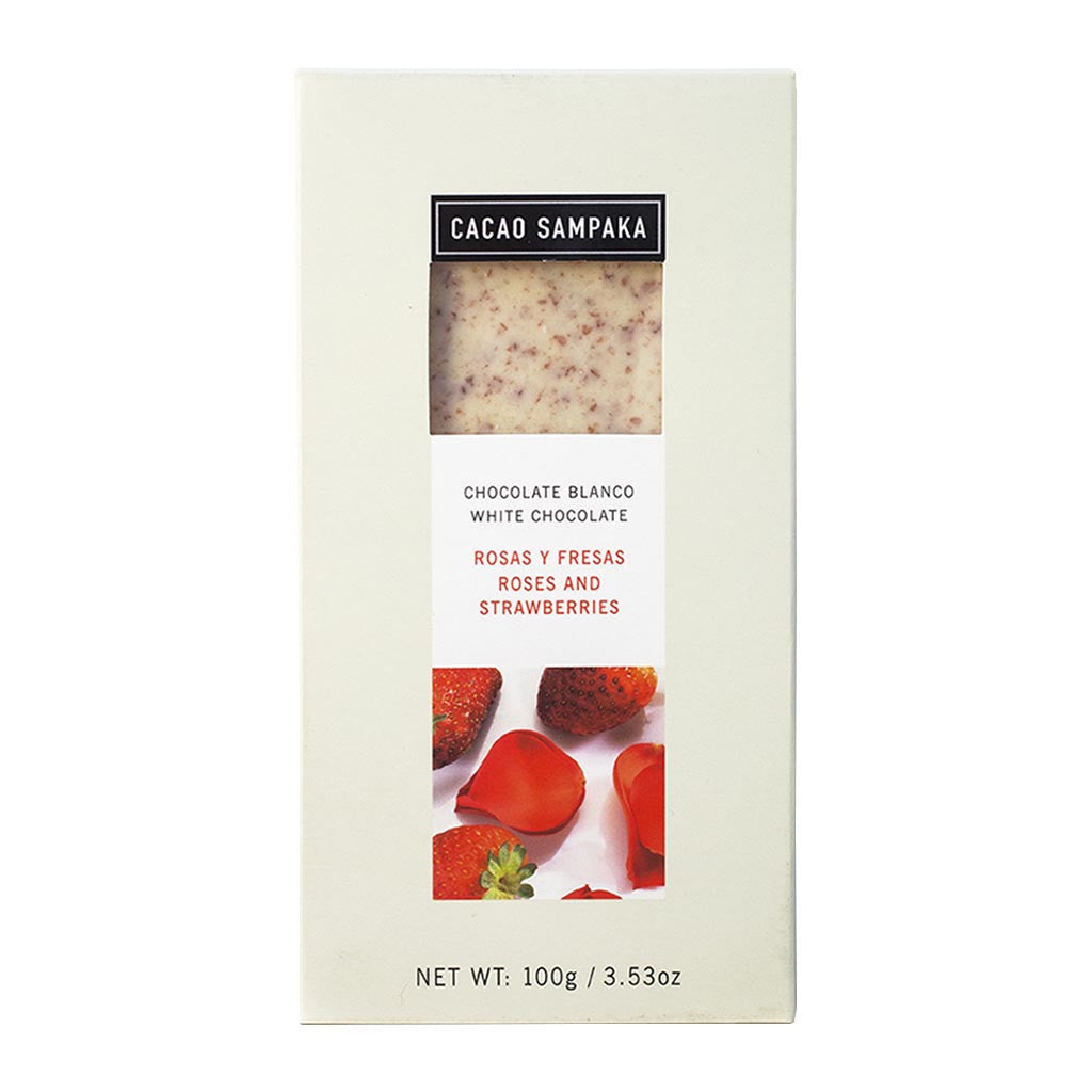 Cacao Sampaka Rose & Strawberry White Chocolate Chocolate Bar