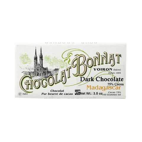 Chocolat Bonnat Gourmet Chocolate Bar - Madagascar 75% Cocoa - 100g