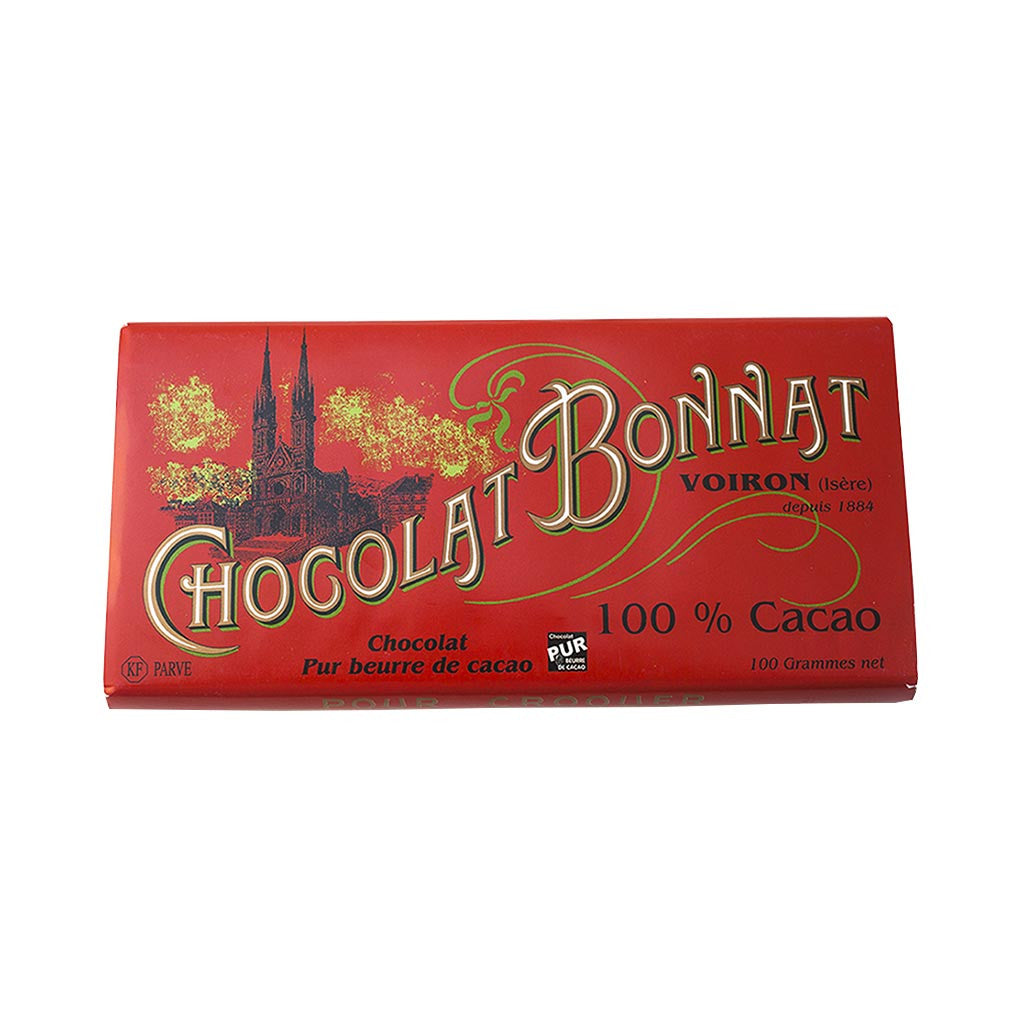 Chocolat Bonnat Gourmet Chocolate Bar - 100% Cocoa - 100g - Gourmet Boutique