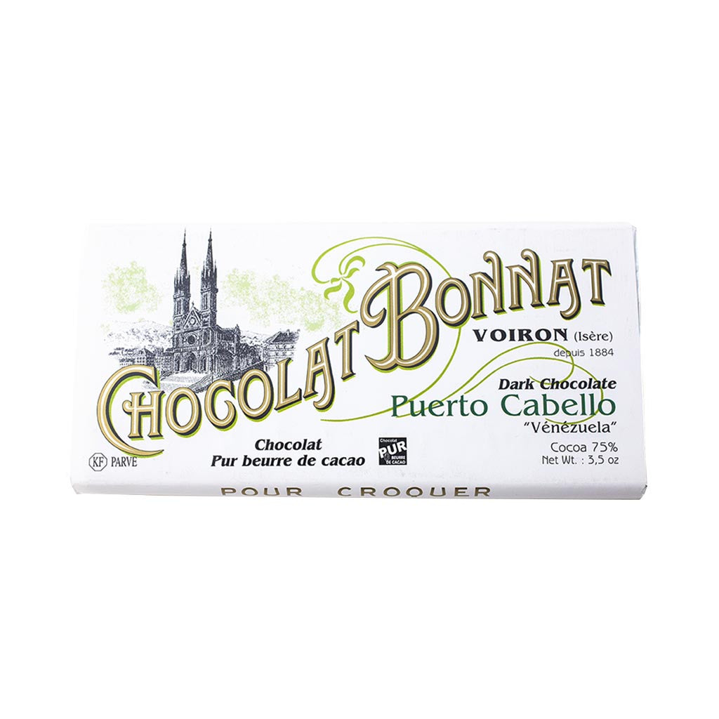 Chocolat Bonnat Gourmet Chocolate Bar - 75% Cocoa - Puerto Cabello - 100g - Gourmet Boutique