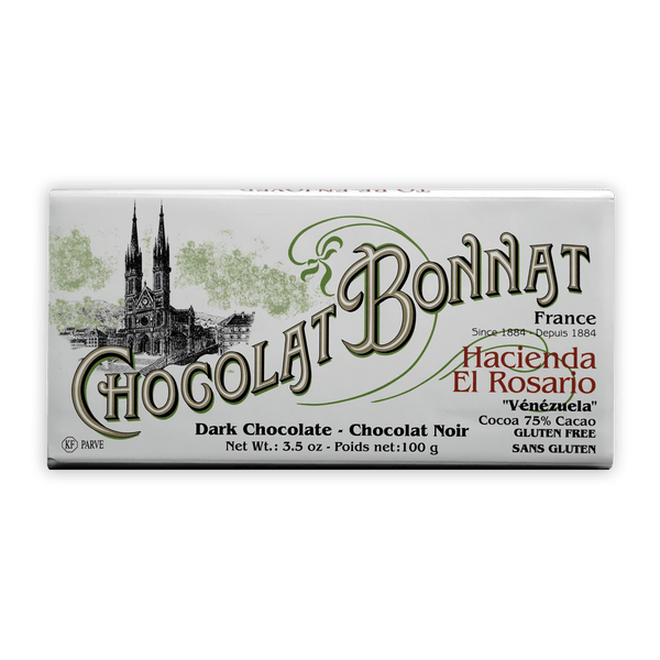 Chocolat Bonnat Hacienda El Rosario - 75% Dark Chocolate - 100g