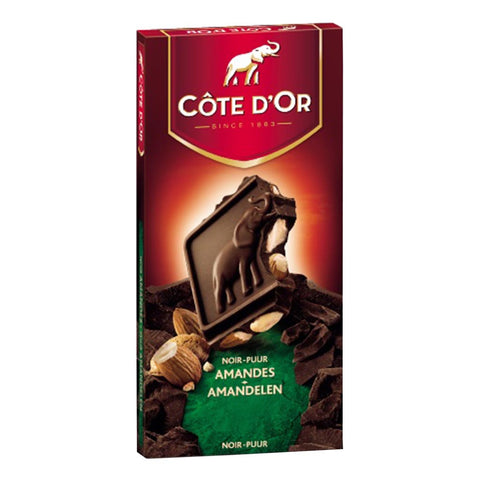 "Cote d'Or Chocolate of Belgium - Block Dark Chocolate with Almonds - 200g  (""PRE-ORDER FOR SEPT 15TH DELIVERY"")"