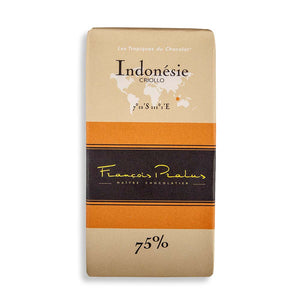 Francois Pralus Gourmet Chocolate Bar - Indonesie 75% Criollo Bean - 100g - Gourmet Boutique