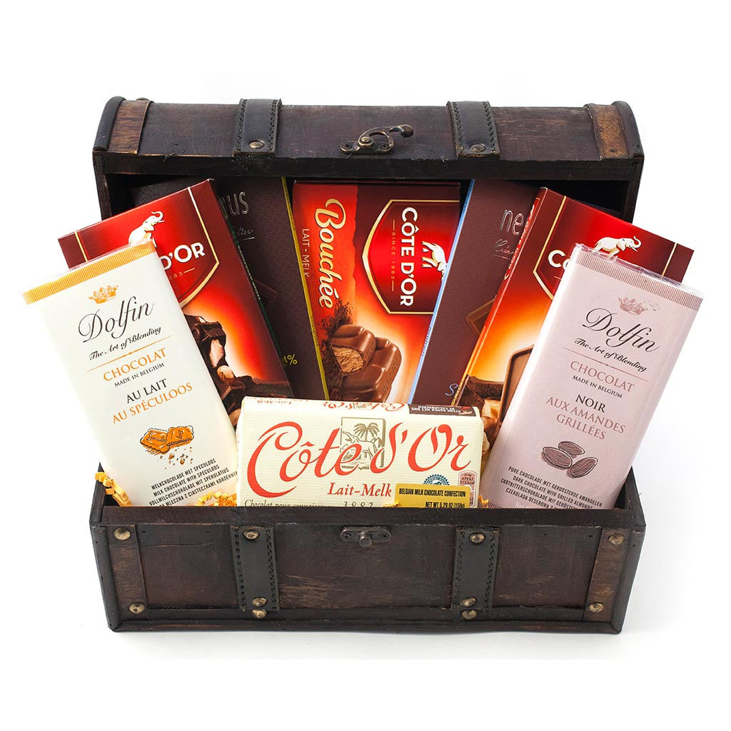 Belgium Chocolate Gift Trunk - Gourmet Boutique