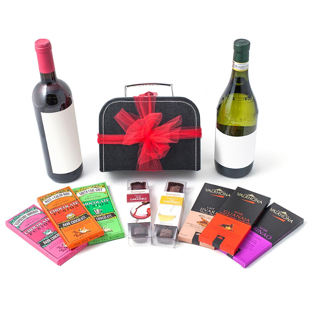 Chocolate and Wine Lovers Pairing Gift Box - Gourmet Boutique
