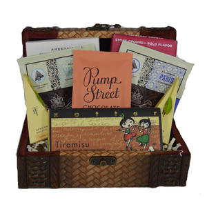 Valentine's Day Tea & Chocolate Tasting Kit with Gift Keepsake Trunk