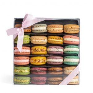 Large Best of Macaron Assortment Box Tower (24 Pc)