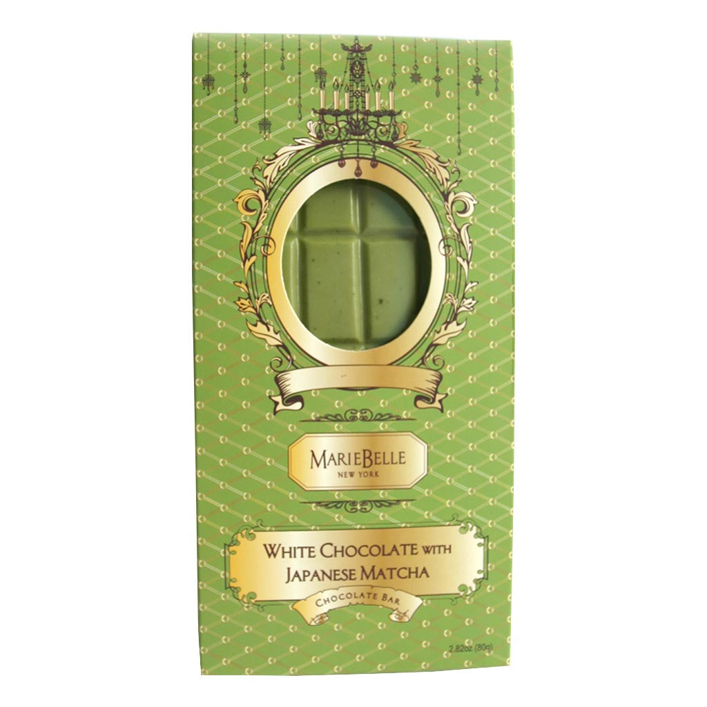 Mariebelle White Chocolate Japanese Matcha Green Tea Bar - Gourmet Boutique