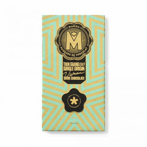 MAROU WALLPAPER TIEN GIANG 80% SINGLE ORIGIN CHOCOLATE BAR