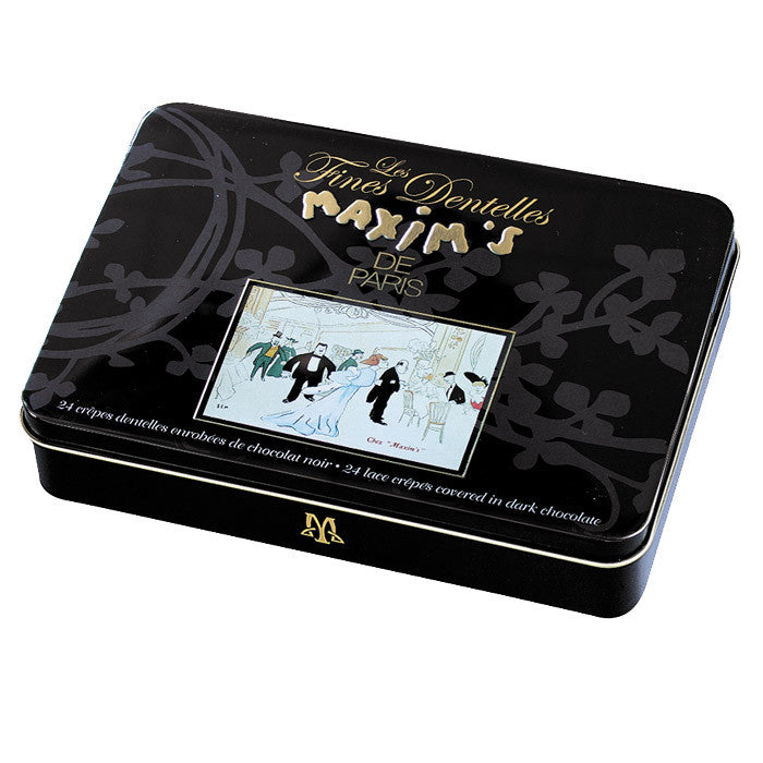 Gift Tin of Dark Lace Crepes - Gourmet Boutique
