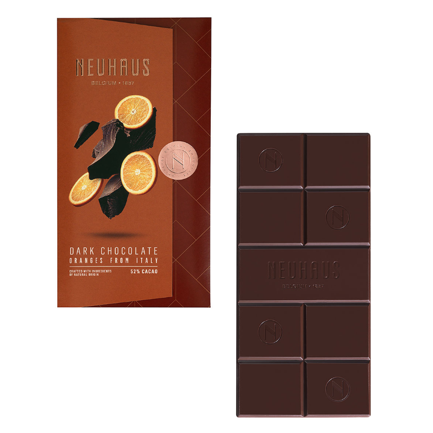 Neuhaus Tablet Dark Chocolate Orange, 100g - Gourmet Boutique