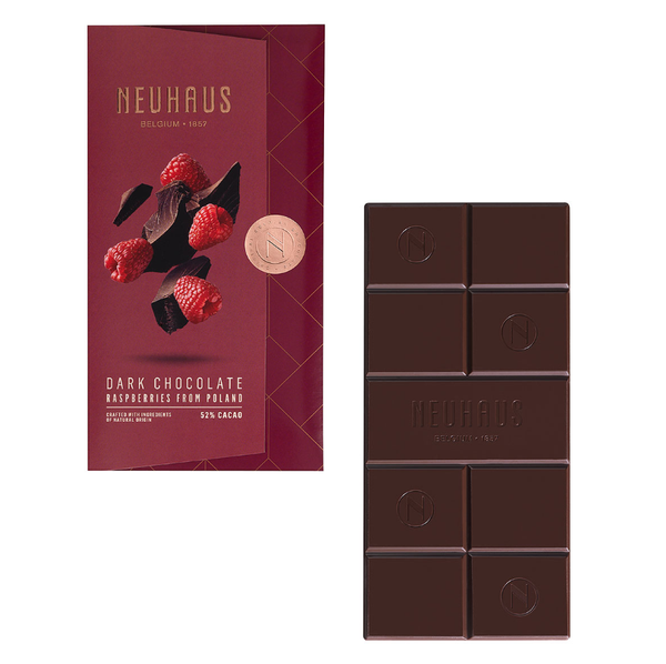 Neuhaus Tablet Dark Chocolate with Raspberry, 100g - Gourmet Boutique