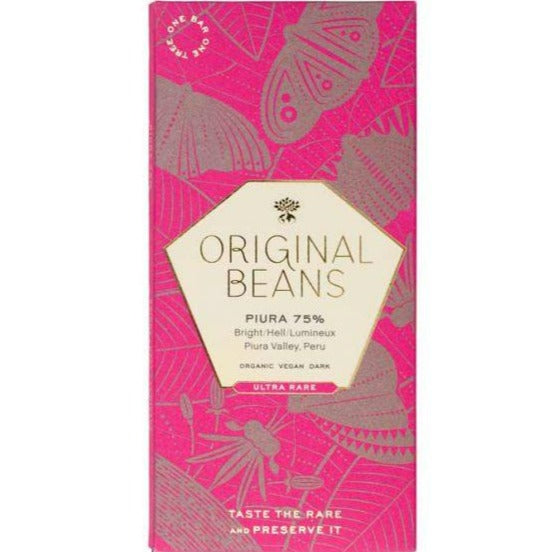 ORIGINAL BEANS PIURA PERU 75% CHOCOLATE BAR