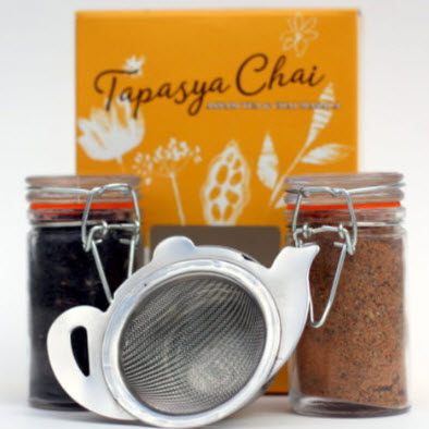 Tapasya Chai Kit (with strainer), makes 20-30 perfect cups of Chai - Gourmet Boutique