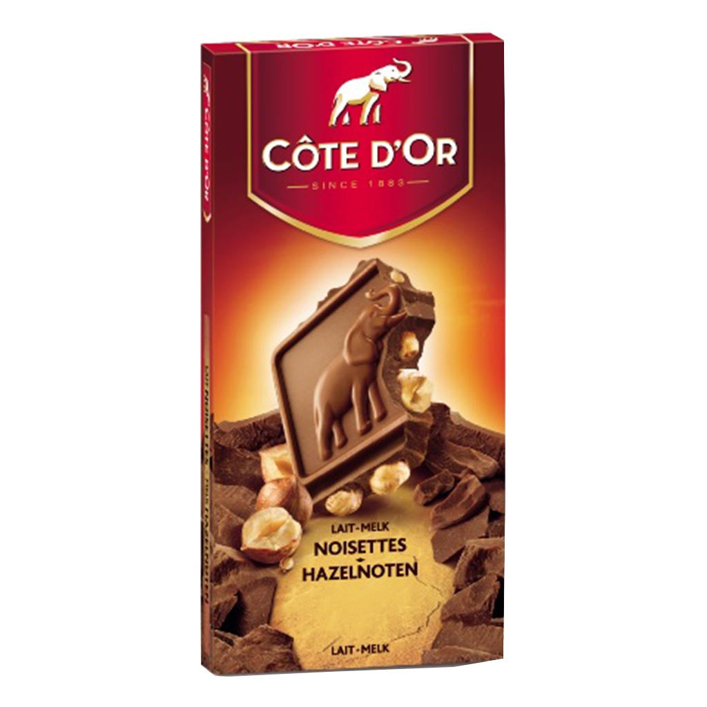 Cote Dor Chocolate Of Belgium Block Milk With Hazelnuts Nutella Hazelnut Spread Cocoa 200gr 200g