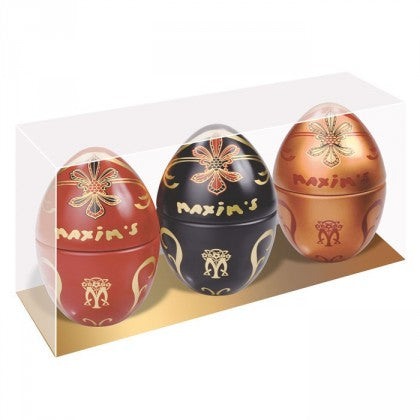 Maxim's de Paris Gift Pack Three Mini Egg Tins