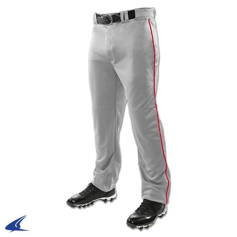 Champro Sports Youth TRIPLE CROWN OPEN BOTTOM PANT WITH PIPING