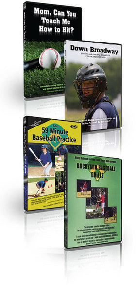Mom, Can You Teach Me How To Hit?, Down Broadway: Pitching & Catching Techniques For The Modern Player, The 59 Minute Baseball Practice, Backyard Baseball Drills Money Saving Special