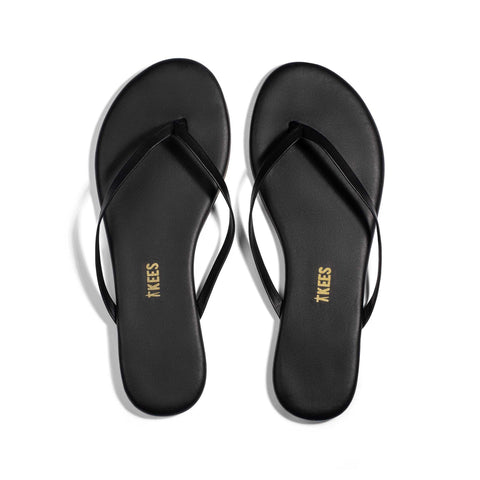 Leah Toe Cross - Black