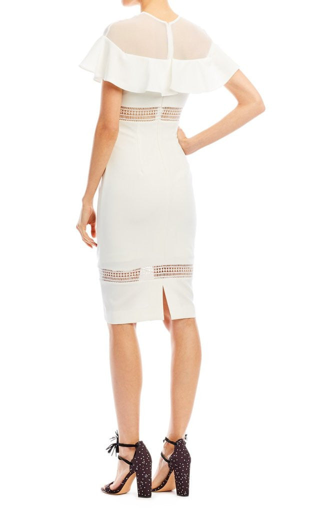 Ruffle Mesh Combo Dress