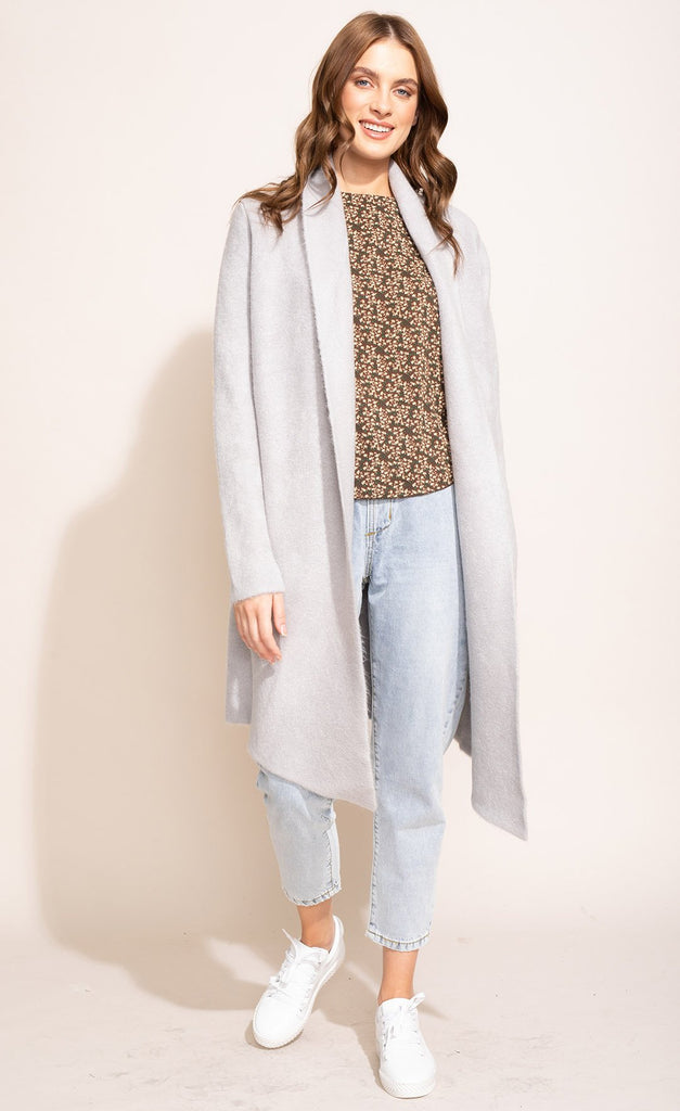 The Stockport Cardi Coat Light Grey
