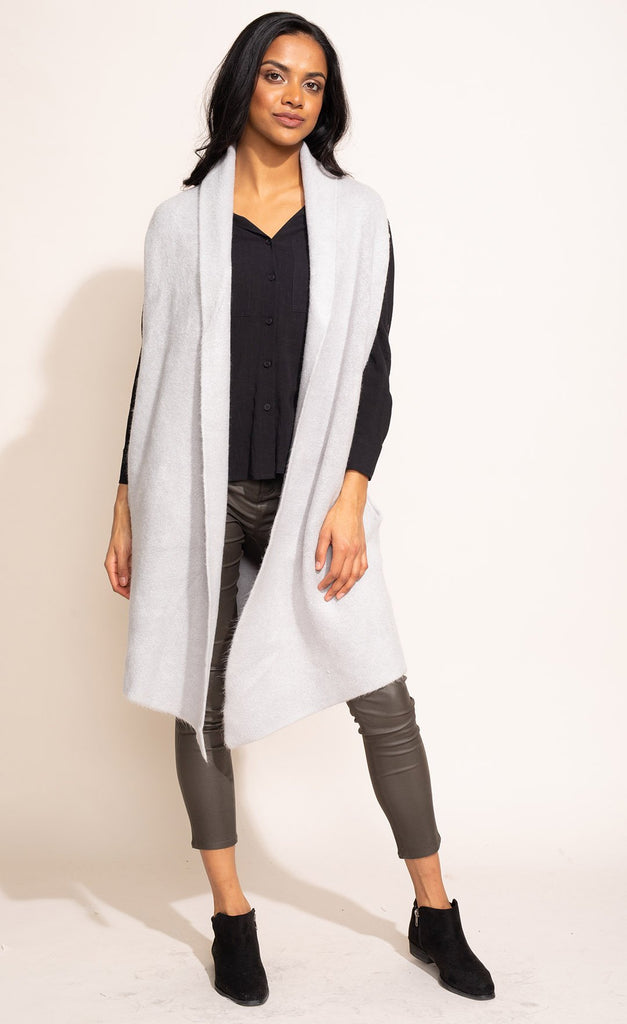 The Stockport Cardi Vest Light Grey