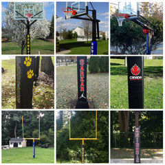 Customized Pole Pad Decals -  An easy way to make a Big Statement!