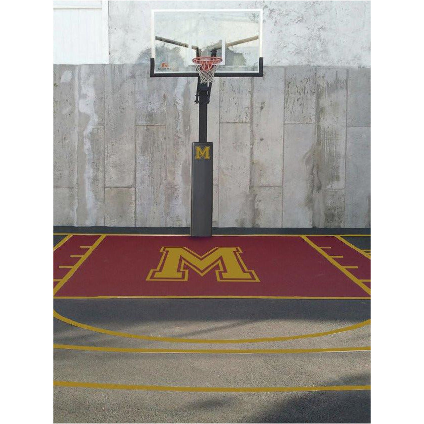 Custom Basketball Court Logos & Lettering