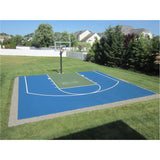Backyard Basketball Court Painting