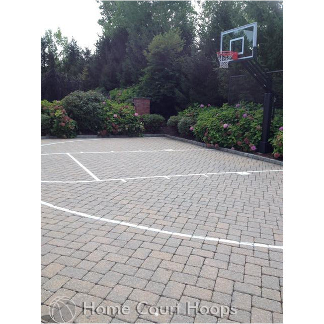 Driveway Basketball Court Line Painting Service – Home Court Hoops