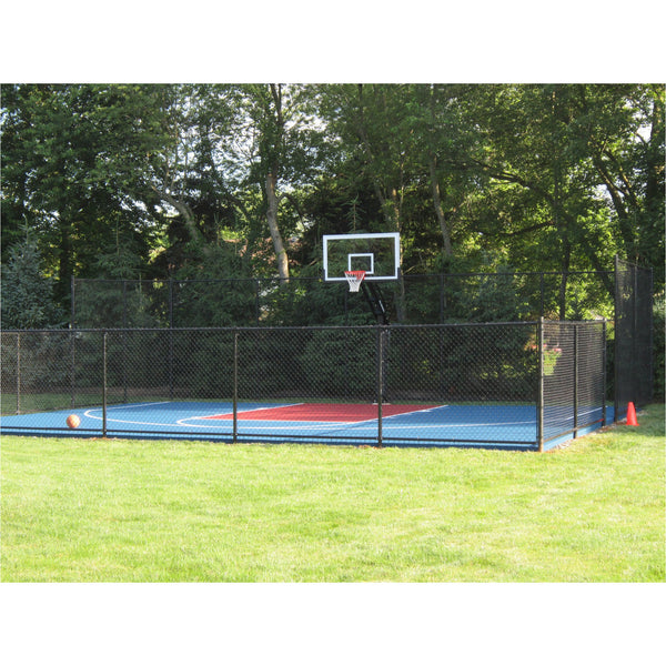 Backyard basketball court painting home court hoops for Sport court paint
