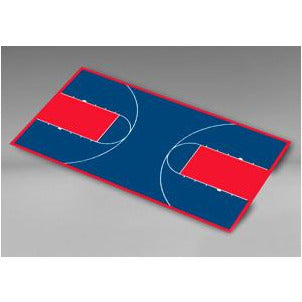 "Custom Basketball Court Tiles - 35'9"" x 65'4"""