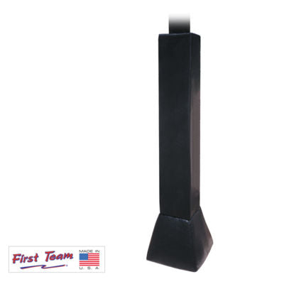 FT79 - Basketball Pole Pad + Gusset - Black - 6x6 Square