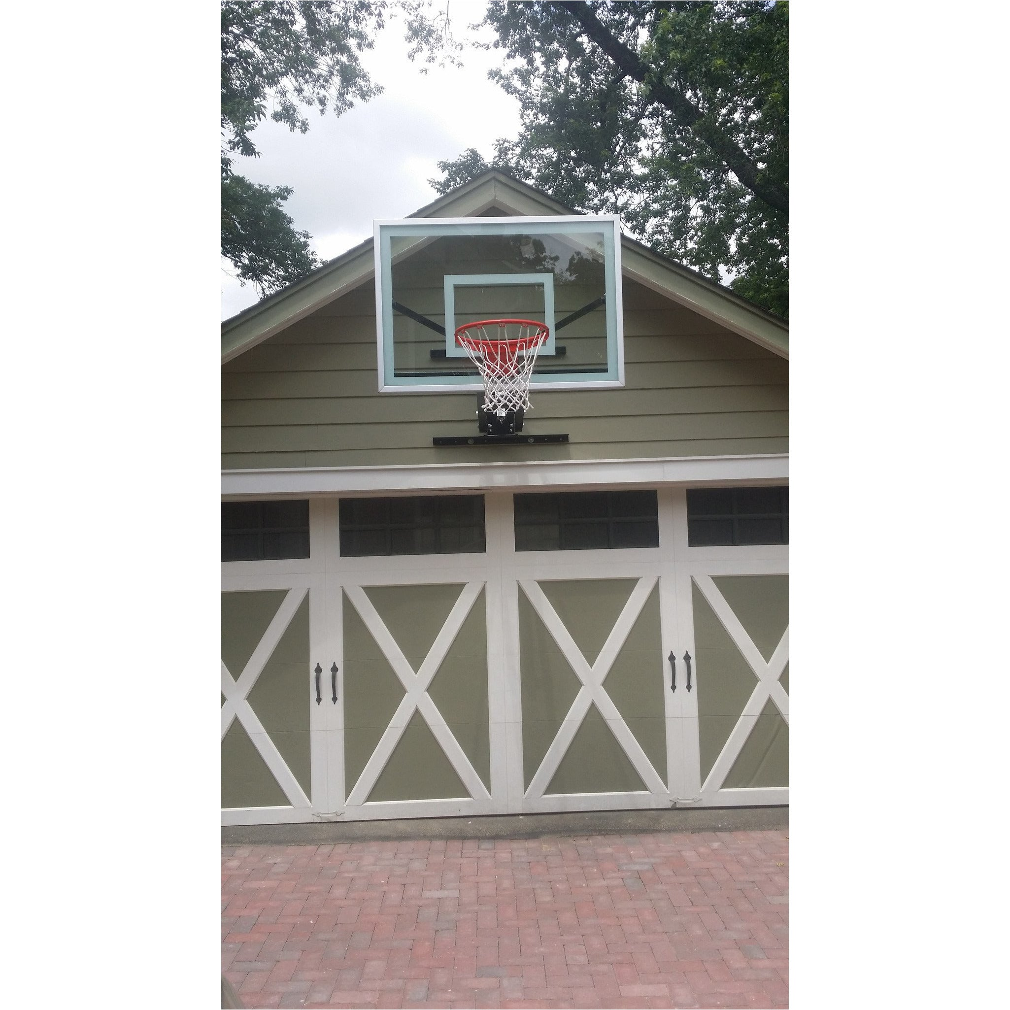 American eagle patriot garage mounted basketball hoop for Basketball garage