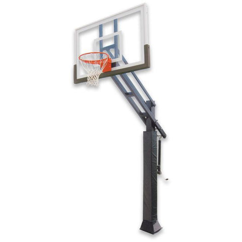 "IRONCLAD 60"" Triple Threat TPT553-LG Adjustable Height Ironclad Basketball Goal"