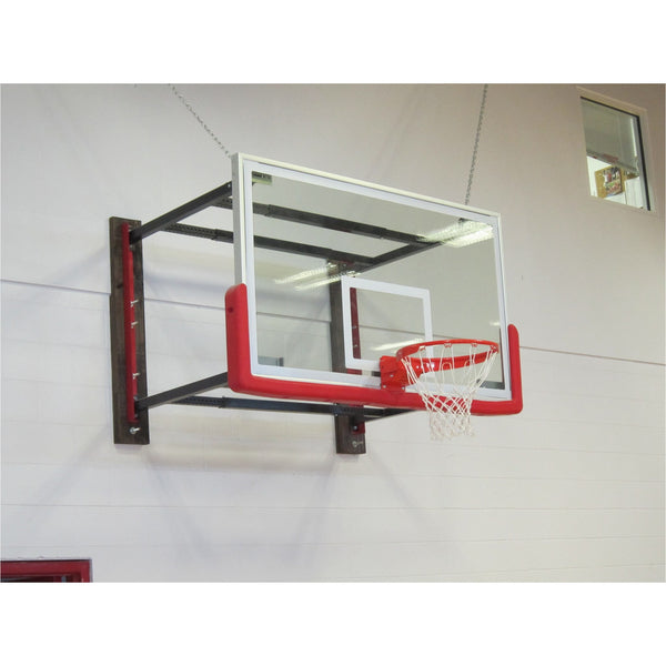 Wall mounted basketball hoops home court
