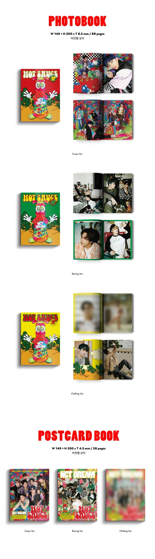 (Pre-order)NCT DREAM Vol. 1 - Hot Sauce (Photo Book Version)