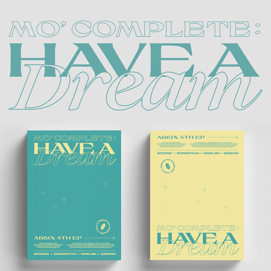 (Pre-order)AB6IX EP Album Vol. 4 - [MO' COMPLETE : HAVE A DREAM]
