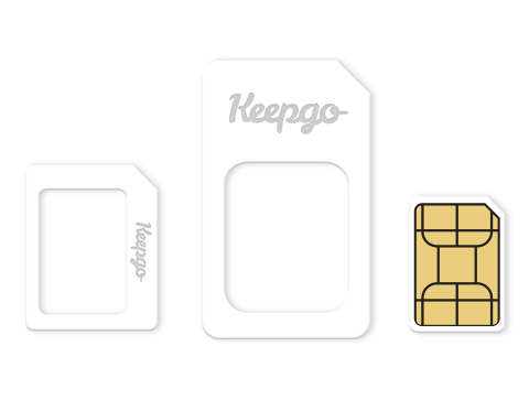 Nano, Mini, Standard- International Data SIM Keepgo-1GB-Pay-As-You-Go