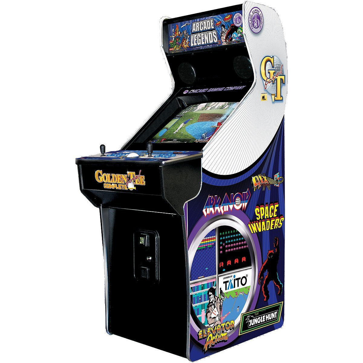 Golden Tee Cabinet Chicago Gaming Arcade Legends 3 Arcade Game With 130 Games And