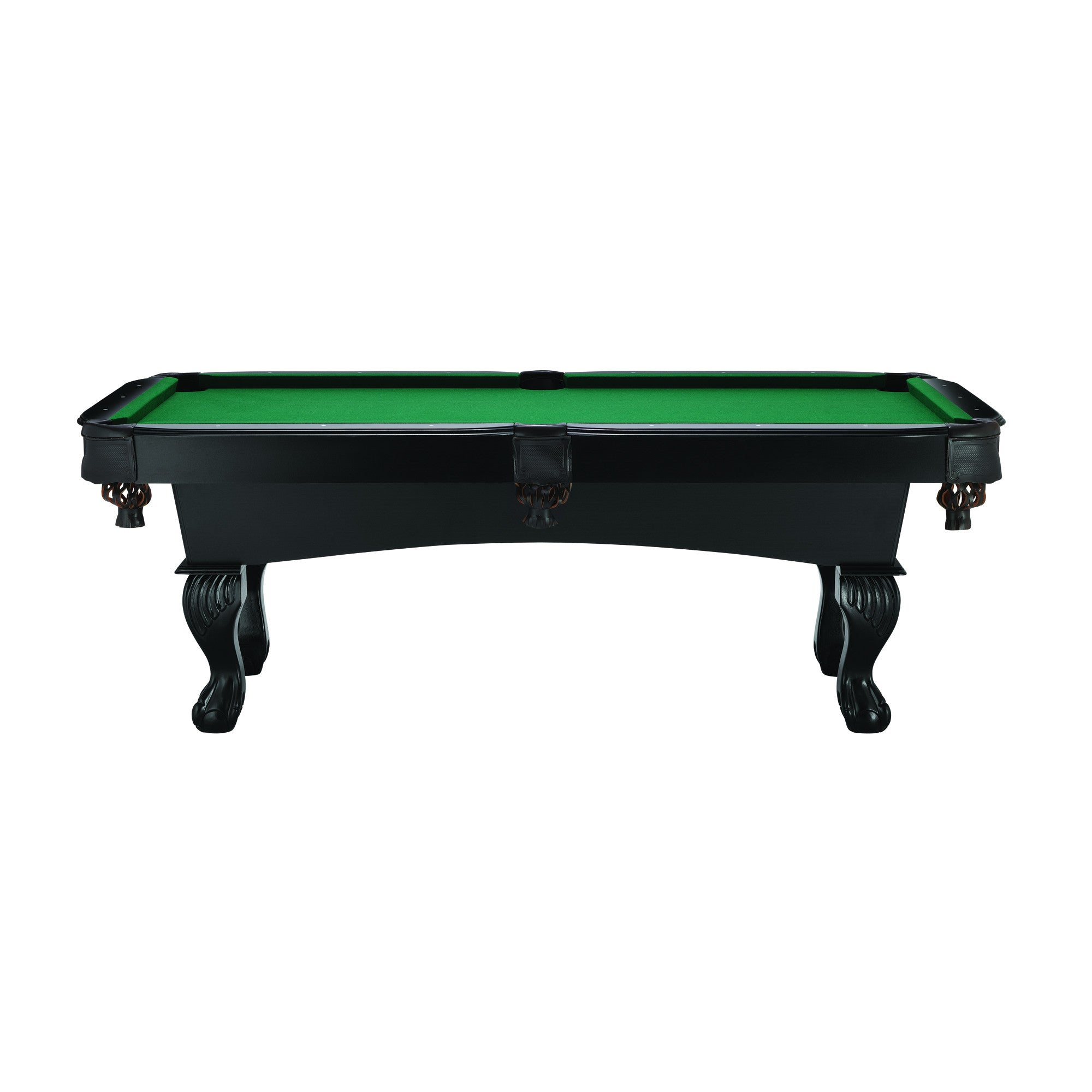 Fat Cat Ft Kansas Billiard Table With Ball And Claw Legs NJ Gamerooms - How long is a pool table