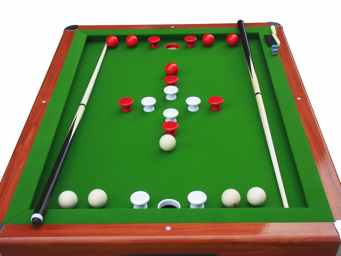... Hartford Bumper Pool Table Cherry Topdown2 ...