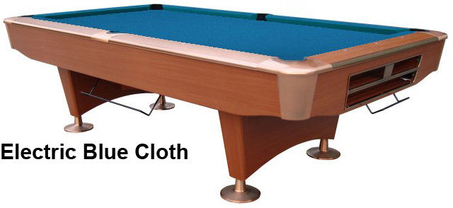 Playcraft Southport Honey Piece Slate Pool Table W Ball Return - Electric blue pool table
