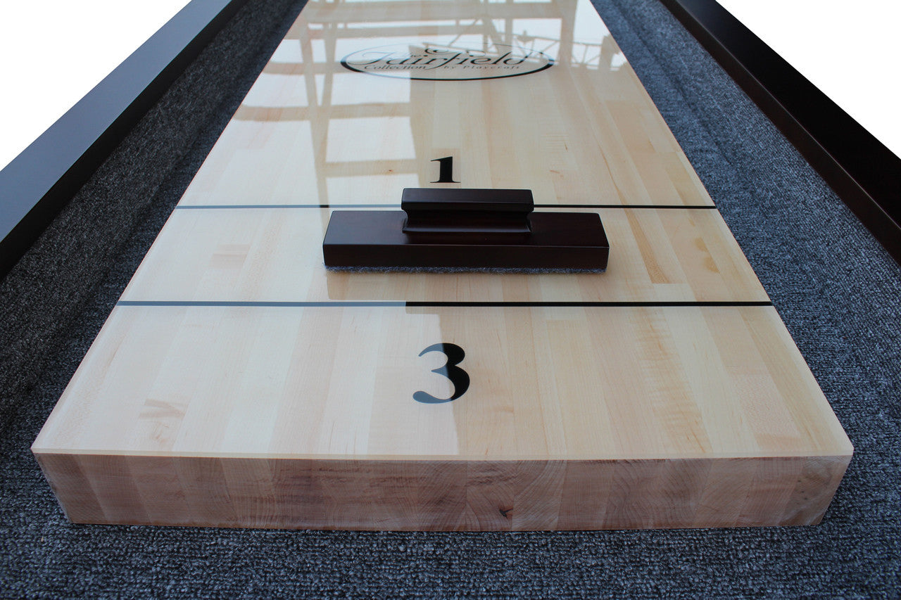 ... St Lawrence Pro Style Shuffleboard Table Expresso Topdown